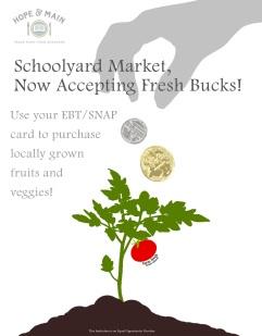 Schoolyard Market SNAP-EBT Poster 13x19